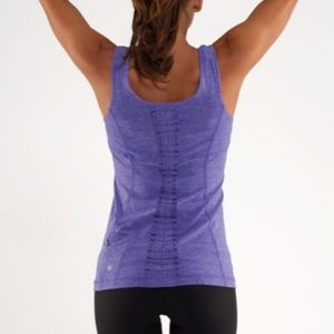 Lululemon Run Free Tank Top Shirt 8 Purple Ruffle